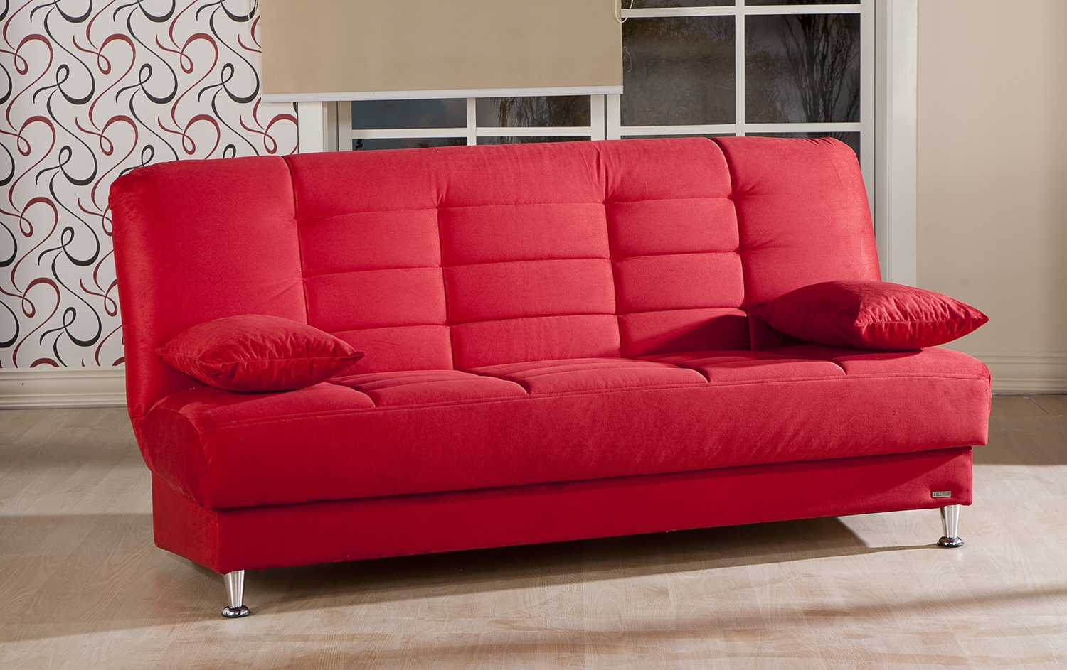 Sale More Functional Sofas Futons Vegas Convertible Sleeper Sofa Rainbow Red