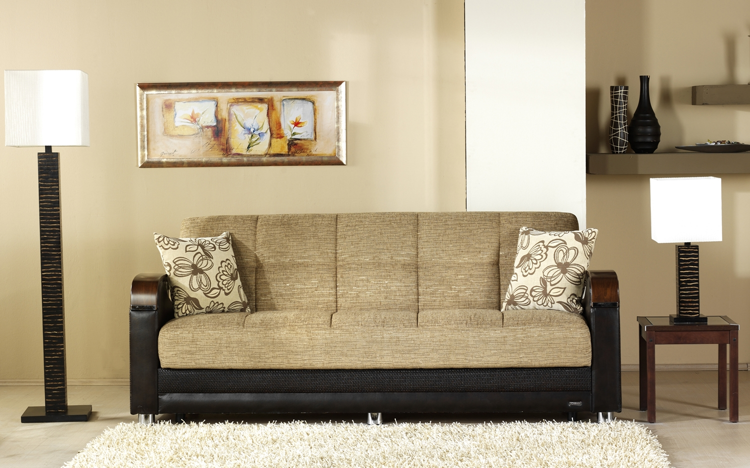 Picture of: Sale More Functional Sofas Futons Luna Convertible Sleeper Sofa Fulya Brown